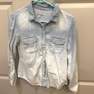 Chambray Top size small